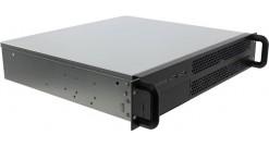 """Корпус Procase EM239-B-0 черный {2U глубина 390мм, внешн 1x5.25, внутр 4хHDD, MB 9.6""""""""x9.6"""""""", без Б/П PS2}"""