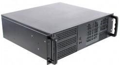 """Корпус Procase EM338-B-0 {3U глубина 380мм, внешн 3x5.25,внутр 9xHDD, MB 12""""""""x9.6"""""""", без Б/П PS2}"""