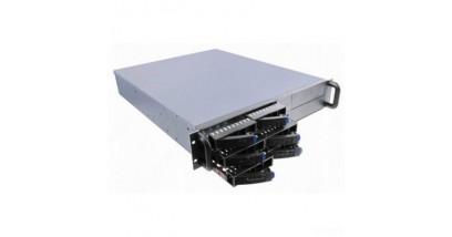 "Корпус Procase ES206S-SATA3-B-0 {2U 8 SATAII/SAS hotswap HDD, глубина 550мм, MB 12""""x10.5"""", без Б/П,черный}"