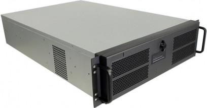 Корпус Procase GE301L-B-0 3U Black E-ATX, без БП, с дверцей