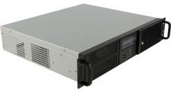 Корпус Procase GM238-B-0 2U Black, microATX, без БП, LCD display
