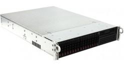 "Корпус Supermicro CSE-213A-R740LPB, 2U Rack-Mountable, 16x2.5"""" HS HDD bays, 4xSFF8087, 5.25"""" periph. bays, opt. Slim ODD, E-ATX 13""""x13.68"""", 7 LP slots, Redundant PSU 740W 80+94% (1+1), Black"