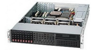 "Корпус Supermicro CSE-213LTQ-R720LPB (Black) 2U, 8x 2.5"""" HS SAS/SATA HDD tray, with LP card, 2*720W"
