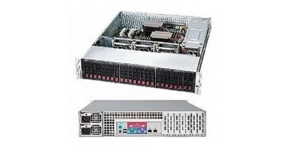 "Корпус Supermicro CSE-216E26-R1200LPB; 2U, 1200W , 24x2.5"" SAS / SATA Hotswap,"