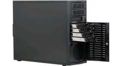 Корпус Supermicro CSE-733TQ-665B, MidTower E-ATX, 4x3.5'' SAS/SATA HS, 1x3.5''+2x5.25'', 9cm+12cm Fan, 2xUSB, 665W Super Quiet (25dB)