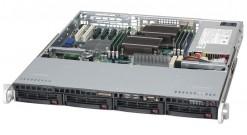 "Корпус Supermicro CSE-813MTQ-600CB 1U 4x3.5""""SAS / SATA+2x5"""" Bays,600W, Rail"