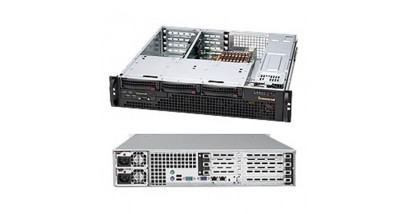Корпус Supermicro CSE-825MTQ-R700UB, 2U, UIO, 3x3.5'' SAS/SATA HS, 1xCOM+2xUSB FrontI/O, 1xSlim DVD-ROM, 700W(1+1) Redundant w/PFC