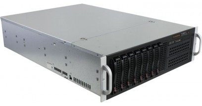 Корпус Supermicro CSE-835TQ-R800B Black 8xHotSwap SAS/SATA, DVD, E-ATX 800W HS 3U RM