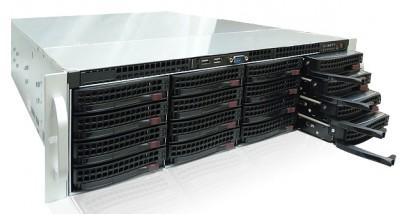 "Корпус Supermicro CSE-836E26-R1200B (Black) 3U Rack, 16x3.5""""SAS2/SATA HSW, 2xExpander, 1200W 1+1"