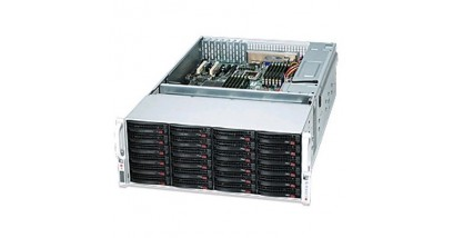"Корпус Supermicro CSE-847E26-R1400LPB, 4U, 36 * 3.5"""" HDD (24 front +12 rear), 2*Expander, 2*1400W"