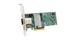 Контроллер LSI Logic SAS 9380-8e (PCI-E 3.0 x8, LP) SGL SAS 12G, RAID 0,1,10,5,6, 8port (2*extSFF8644),1GB onboard, Каб.отдельно
