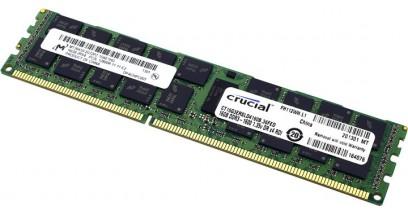 Модуль памяти Crucial 16GB DDR3 1600MHz PC3-12800 RDIMM ECC Reg CL9 Kit 4x4Gb 1.35V Dual Rank (CT16G3ERSLD4160B)