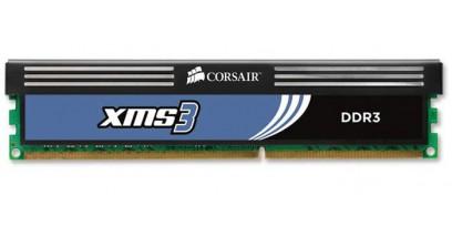 Модуль памяти Corsair DDR3 4Gb 1333MHz 1x4Gb 9-9-9-24 XMS3 Core i7, i5/Phenom II Corsair