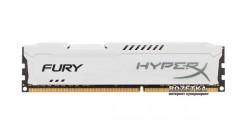 Модуль памяти Kingston DIMM DDR3 8192MB PC12800 1600MHz HyperX FURY White Series CL10-10-10 [HX316C10FW, 8] Retail