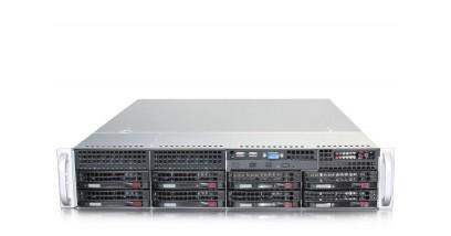 Серверная платформа Supermicro SYS-6027R-TDARF 2U/2xLGA2011/iC602/8xDDR3/8x3.5 SATA/2Glan/VGA/740W 1+1