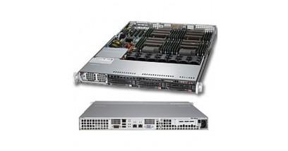 Серверная платформа Supermicro SYS-8017R-TF+ 1U 4xLGA2011 (E5-46xx) C602/32xDDR3/3x3.5 SATA/2GLAN/IPMI/VGA 1400W