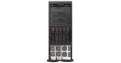 Серверная платформа Supermicro SYS-8047R-TRF+ 4U/Tower 4xLGA2011 (E5-46xx)C602/32*DDR3/5x3.5 SATA/2*GLan/IPMI/VGA 2x1400W