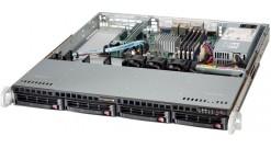 """Серверная платформа Supermicro SYS-5018A-MLHN4 1U Atom C2550 4xDDR3 SO-DIMM ECC, 4x3.5"""""""" HS HDD, IPMI,4xGbE,IPMI 200W"""