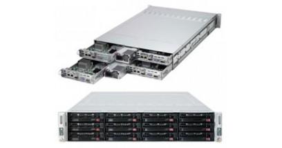 """Серверная платформа Supermicro SYS-6027TR-HTRF+ 2U (4 Nodes) 2xLGA2011 3xHDD 3.5"""""""", 16xDDR3, 2xGbE, IPMI, MicroLP 2x1620W"""