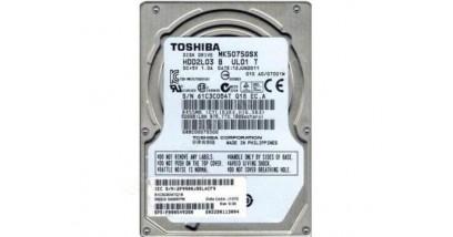 "Жесткий диск Toshiba SATA 500GB 2.5"""" (MK5075GSX) 5400 rpm, 8Mb buffer"