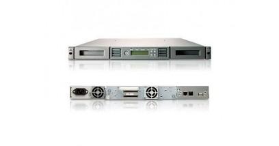 Ленточный автозагрузчик HP StorageWorks Ultrium 3000 1/8 G2 Ext. SAS Autoloader (1U; incl. Yosemite Server Backup Basic, brcd rdr, 2m SFF8470-SFF8088 SAS cbl)