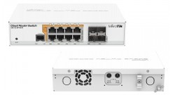 Маршрутизатор 8PORT 1000M 4SFP CRS112-8P-4S-IN MIKROTIK 8x10Base-T / 100Base-TX ..