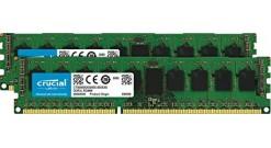 Модуль памяти Crucial 16GB DDR3 Kit (8GBx2) 1600MHz PC3-12800 UDIMM ECC 1.35V (C..