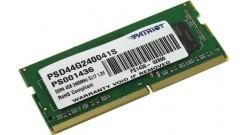 Модуль памяти PATRIOT PSD44G240041S DDR4 - 4Гб 2400, SO-DIMM, Ret..