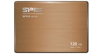 "Накопитель SSD Silicon Power 120GB SSD V70 Silicon Power 2,5"""" SATA III 557/507 MB/s seq/w 286MB/s SF2281 Toggle/ Sync"