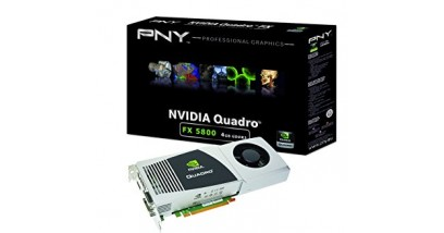 Видеокарта PNY Quadro FX 5800 4096MB PCIE DisplayPort 2xDVI 512-bit DDR3 SLI 3-pin Stereo Sync Connector