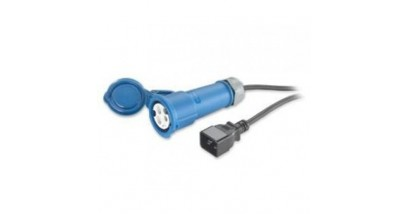 Power Cord, 16A, 230V, C20 to IEC 309F