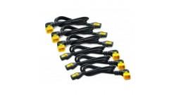 Power Cord Kit (6 ea), Locking, C13 TO C14 (90 Degree), 0.6m