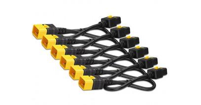 Power Cord Kit (6 ea), Locking, C19 to C20 (90 Degree), 1.8m
