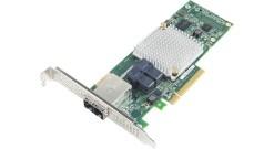 Контроллер Adaptec HBA 1000-8i8e SGL, 8 внутренних/ 8 внешних портов, PCI-Ex8, 12GB/s, 2 x mini SAS HD (SFF-8643) external + 2 x mini SAS HD (SFF-8643) internal, низкопрофильный форм-фактор MD2 (2288500-R)