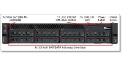 Сервер Lenovo SR530 Xeon Bronze 3104 (6C 1.7GHz 8.25MB Cache/85W) 16GB(1x16GB, 1..