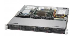 "Серверная платформа Supermicro SYS-5019S-MN4 1U LGA1151 iC236, 4xDDR4 ECC, 4x3.5"""" bays, 4x1GbE, IPMI, PCI-Ex16 350W"