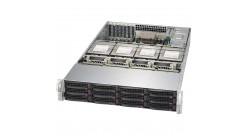 """Серверная платформа Supermicro SSG-6028R-E1CR16T 2U 2xLGA2011 16x DDR4, 12/16x3.5''+2x2.5"""""""" HS HDD, LSI3108/2GB, 2x10GbE, IPMI, 2x1100W"""