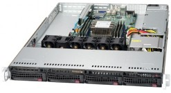 "Серверная платформа Supermicro SYS-5019P-WT 1U 1xLGA3647 iC622, 6xDDR4, 4x3.5"""" bays, 2x10GbE, IPMI 600W"