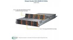 "Серверная платформа Supermicro SSG-6028R-E1CR24L 2U 2xLGA2011 Intel C612 /1xPCI-Express 3.0 8x/2xPCI-Express 3.0 16x/DDR4 RDIMM/24x3.5"""" SAS/SATA Hot-swap 2x1600W (Complete only)"