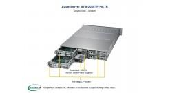 """Серверная платформа Supermicro SYS-2029TP-HC1R 2U (4 Nodes) 2xLGA3647 16xDDR4, 6x2.5"""""""" bays, SAS, SIOM, IPMI 2x2200W"""