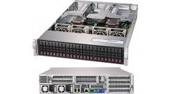 "Серверная платформа Supermicro SYS-2029U-E1CRTP 2U 2xLGA3647 24xDDR4 2933MHz RDIMM, 24x2.5"""" SAS HDD HS via opt. AOC card Broadcom 3108/3008, 2x10G SFP+ LAN via AOC-2UR68-i2XS 2x1000W (Complete System Only)"