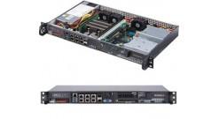 "Серверная платформа Supermicro SYS-5019D-FN8TP 1U Xeon D-2146NT Up to 512GB RDIMM, 1 Internal 3.5"""" or 4 Internal 2.5"""" drive, 1 M.2 slot M key for SSD, 2242/8, 1 M.2 B Key for SSD/ WAN card, 4x 1GbE, 2x 10GBase-T, 2x 10G SFP+, 200W"