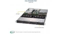 "Серверная платформа Supermicro SYS-6019U-TR4T 1U 2xLGA3647 Up to 3TB RDIMM, 4 Hot-swap 3.5"""" Drive 2x750W (Complete Only)"