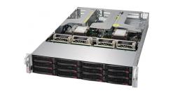 """Серверная платформа Supermicro SYS-6029U-TR4T 2U 2xLGA3647 C621, 24xDDR4, 12x3.5"""""""" HDD Hot-swap SAS/SATA, 4x1GbE Intel i350 in AOC-2UR68-I4G-P, IPMI 2.0, 2x1000W (Complete Only)"""