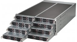 "Серверная платформа Supermicro SYS-F618R2-RC0+ 4U (8 Nodes) 2xLGA2011, C612, 6x2.5"""" SAS/SATA Hot-swap, PCI-Express 3.0 8x,1xPCI-Express 3.0 16x,3xRJ45, 16xDDR4 2400MHz LRDIMM, 2x2000W"