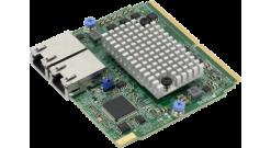 Сетевой адаптер Supermicro AOC-MTG-B2TM-O SIOM Dual-port 10GbE RJ45 (10GBase-T) ..