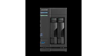 Сетевой накопитель данных Asustor AS-602T, 2 Bay, I.A. 2,13ГГц,/1ГБ*DDR3/SATAIII/LCD/GbEx2/USB 3.0+2.0/HDMI x1, без HDD