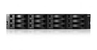 "Дисковый массив IBM Storwize V3700 LFF Dual Control Enclosure 2U (up to 12x3.5"""" SAS HDD, 4xISCSI 1GbE , 2xExp slot, 2x4GB cache, Dual 6Gb miniSAS port for Expansion Enclosure, 2xPower, Fan)"