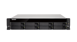 Система хранения Qnap TS-832XU-RP-4G 8-Bay quad-core 1.7 GHz rackmount NAS with 250W redundant PSU, 4GB DDR4 UDIMM RAM (max 16GB), SATA 6Gb/s, 2x 10GbE SFP+ LAN, 2x GbE LAN, 1x PCIe Gen2 x2 slot. W/o RAIL-B02