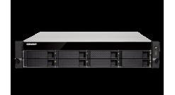 Система хранения Qnap TS-853BU-RP-4G NAS 8 HDD trays, rackmount, 2 PSU. 4-core Intel Celeron J3455 1,5 GHz (up to 2,3 GHz), 4 GB. W/o rail kit RAIL-B02